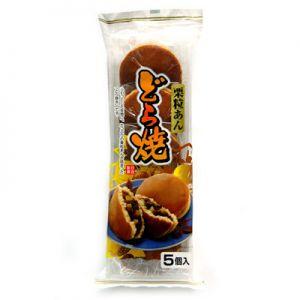 日本SHIMIZU 栗子粒馅铜锣烧5枚入 300g
