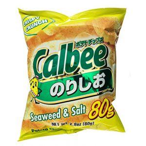 日本CALBEE卡乐比 海苔盐味薯片 80G