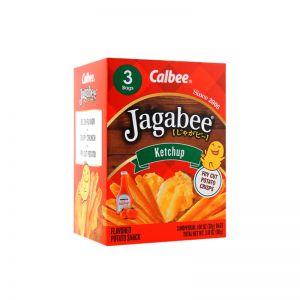 日本CALBEE卡乐比 JAGABEE薯条 番茄酱口味 3份 90G