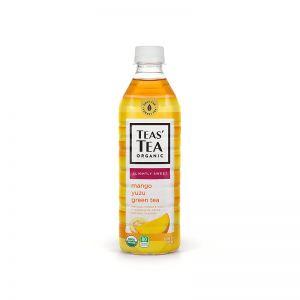 日本ITO EN伊藤园 TEAS'TEA ORGANIC微甜芒果柚子绿茶 500ML