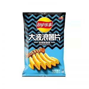 台湾LAYS乐事 大波浪薯片 铁板鱿鱼 70G