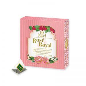 日本LUPICIA绿碧茶园 皇家香槟玫瑰银箔红茶 10袋茶包 50G