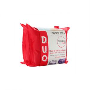 法国BIODERMA贝德玛 舒妍多效洁肤湿巾 超值2包入 50片 敏感肌适用