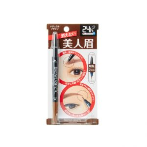 日本BCL BROWLASH EX极致防水两用高贵深棕双头眉笔