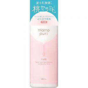 日本新款BCL momopuri桃保湿神经酰胺桃子乳液滋润蜜桃香150ml