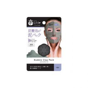 日本PURE SMILE 家SPA 碳酸泡泡清洁毛孔黑泥面膜 单片入