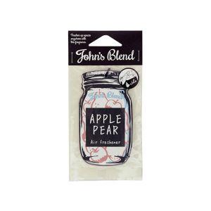 JOHN'S BLEND Hanging Car Fragrance Air Freshener Apple Pear 11g