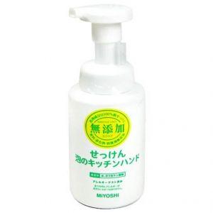 日本三芳MIYOSHI无添加婴儿童可用洗手液泡沫型无刺激去油去腥350ml 厨房用
