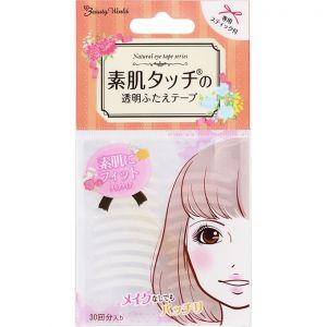 日本LUCKY TRENDY新款免胶水隐形双眼皮贴30回分 单面透明款
