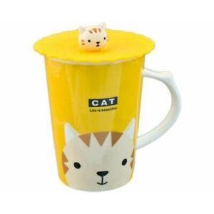 MUG W/ LID CAT PC12-4