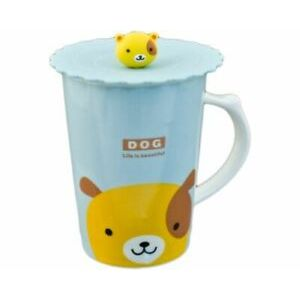 MUG W/ LID DOG PC12-6