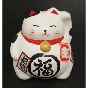 """3.5""""H LUCKY CAT-WH"""