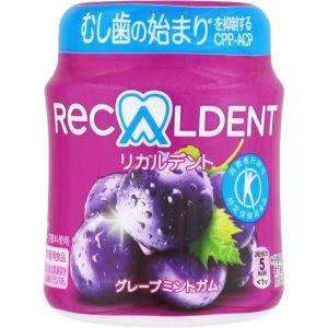 日本MONDELEZ RECALDENT葡萄薄荷口香糖 140G