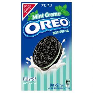 日本NABISCO 奥利奥夹心饼干 薄荷奶油味 18枚 190G
