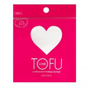 日本TOFU LOVE 心形化妆粉扑 底妆服帖 化妆棉 美妆蛋