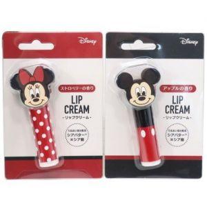 日本DISNEY卡通人物保湿滋润护唇膏 一支装 两款入