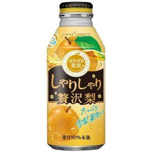 日本POKKA SAPPORO波卡札幌 超赞真实果肉梨味果肉饮料 400ml