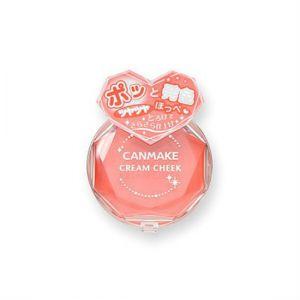 日本CANMAKE井田制药 水润持久修容单色霜状腮红膏 05 杏桃橙 2.3g