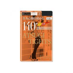 日本ATSUGI厚木 秋冬发热打底连裤袜 厚款140D #黑色M-L 2双装