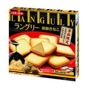 日本ITOEN伊藤园 黑糖黃豆粉夹心饼干 12枚 130G