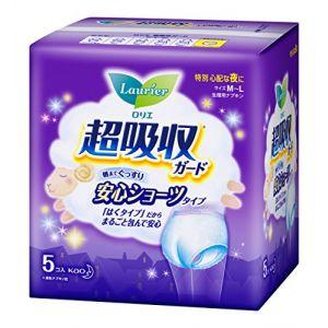 日本KAO花王 Laurier乐而雅 超吸收生理用卫生巾裤型 5包