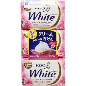 日本KAO花王 护肤香皂 3枚入 #玫瑰香 纯天然植物萃取