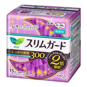 日本KAO花王 LAURIER超薄卫生棉夜用量多30cm 15片