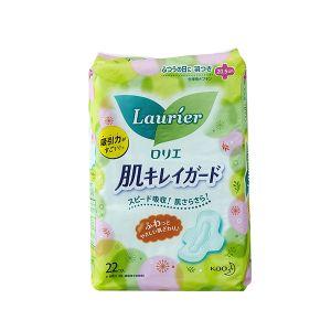 日本KAO花王 LAURIER乐而雅 清爽瞬吸日用卫生巾 22枚入