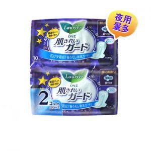 日本LAURIER乐而雅 清爽瞬吸 夜用护翼卫生巾 30cm 10片×2包