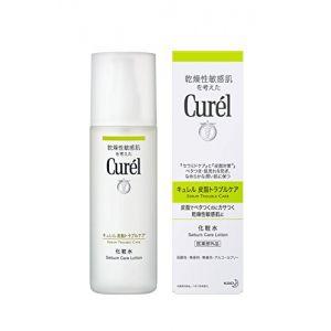 日本KAO花王 Curél珂润 抑制皮脂控油抗痘保湿化妆水150ml 绿色清爽型