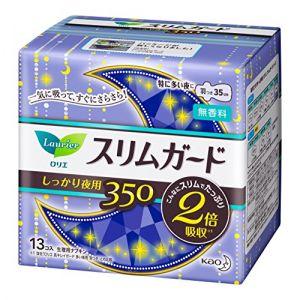 日本KAO花王 乐而雅超薄零触感夜用护翼35cm 13片入