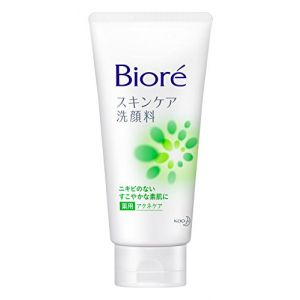 日本KAO花王碧柔女士洗面奶绿色130g清凉抗痘
