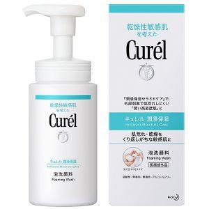 日本KAO花王 CUREL珂润温和保湿洁面泡沫洗面奶 150ml
