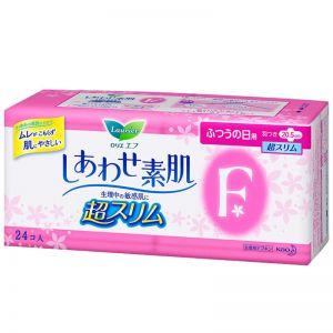 日本KAO花王 LAURIER乐而雅 F系列 丝薄棉柔卫生巾 日用型 20.5cm 护翼型 24片入