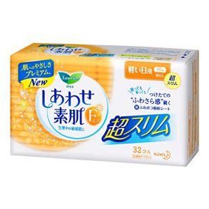 日本KAO花王 乐而雅敏感肌日用无护翼卫生巾 32片入