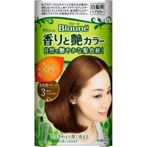 日本KAO/花王Blaune白发专用染发膏纯植物配方 花王遮盖白发