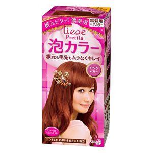 日本KAO花王 LIESE PRETTIA 泡沫染发剂 #浆果粉色 单组入