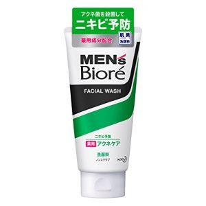 日本KAO花王 MEN'S Biore男士碧柔 清爽保湿控油去角质磨砂祛痘洗面奶洁面乳130g