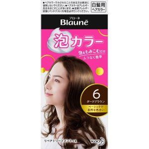 日本KAO花王Blaune泡沫白发用染发剂多色 6暗棕