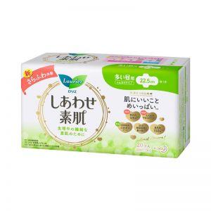日本花王乐而雅素肌量多日用卫生巾带护翼22.5cm*20片