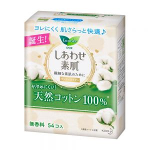 KAO LAURIER PANTYLINER NATURAL COTTON