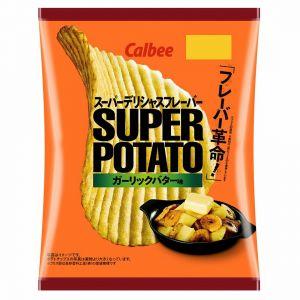 日本CALBEE卡乐比 香蒜黄油味波纹薯片 56G