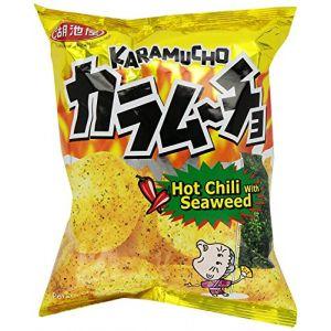 日本KOIKEYA湖池屋 咔辣姆久 平切洋芋片 海苔口味 54g