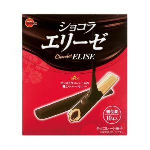 日本BOURBON ELISE 巧克力威化饼干棒 10条 72G