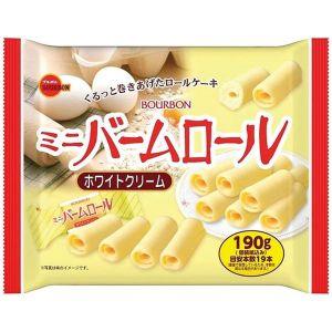 日本BOURBON波路梦 迷你鸡蛋奶油白巧蛋糕卷 19枚 190G