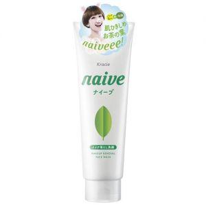 日本KRACIE嘉娜宝 NAIVE 绿茶泡沫卸妆洁面乳 200g