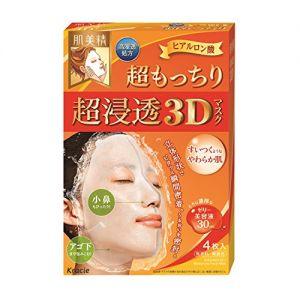 日本嘉娜宝 KRACIE 肌美精3D 深层弹力 立体玻尿酸面膜 4片