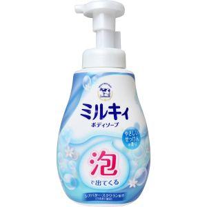 按压起泡 日本 cow牛乳石碱泡沫沐浴露乳600ml 儿童全家可用