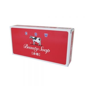 COW BRAND BEAUTY SOAP RED 3PC