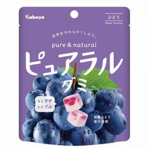 日本KABAYA 卡巴实果葡萄味软糖 58G